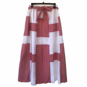 Vintage 70s Alice of California Plaid Maxi Skirt